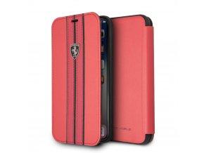 Ochranný kryt / pouzdro pro iPhone X - Ferrari, OnTrack Book Red