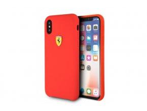 Ochranný kryt pro iPhone X - Ferrari, SF Silicone Red