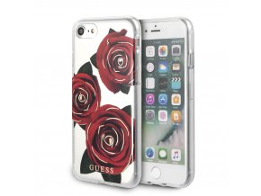 Ochranný kryt pro iPhone 7 / 8 - Guess, Flower Desire Transparent Back