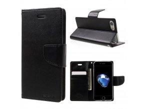 Pouzdro / kryt pro iPhone 7 / 8 - Mercury, Bravo Diary BLACK