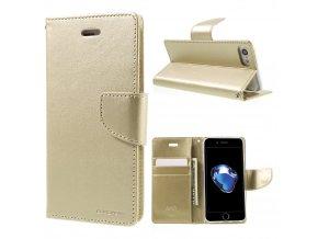 Pouzdro / kryt pro iPhone 7 / 8 - Mercury, Bravo Diary GOLD
