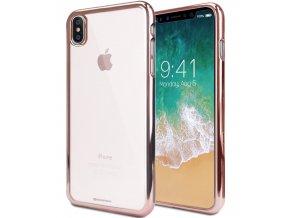 Ochranný kryt pro iPhone X - Mercury, Ring2 RoseGold