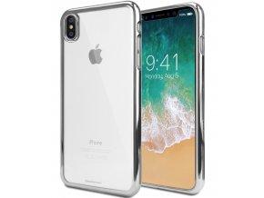 Ochranný kryt pro iPhone XS / X - Mercury, Ring2 Silver