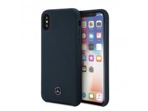 Ochranný kryt pro iPhone X - Mercedes, Silicone Navy