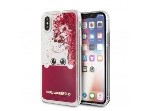 Ochranný kryt pro iPhone X - Karl Lagerfeld, Peek a Boo Liquid Pink