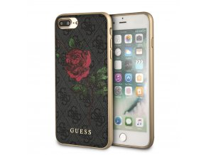 Pouzdro / kryt pro iPhone 8 PLUS / 7 PLUS / 6S PLUS / 6 PLUS - Guess, 4G Flower Desire Grey Back