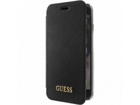 Pouzdro / kryt pro iPhone 5 / 5S / SE - Guess, Iridescent Book Black