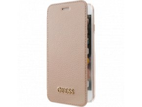Pouzdro / kryt pro iPhone 5 / 5S / SE - Guess, Iridescent Book Pink