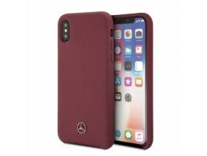 Ochranný kryt pro iPhone X - Mercedes, Silicone Red
