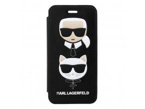 Ochranný kryt pro iPhone 7 / 8 - Karl Lagerfeld, Choupette Black Book