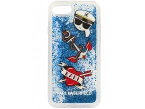 Ochranný kryt pro iPhone 7 / 8 - Karl Lagerfeld, Captain Karl Liquid Glitter