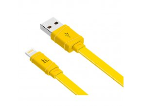 Kabel Lightning pro iPhone a iPad - Hoco, X5 Bamboo Yellow