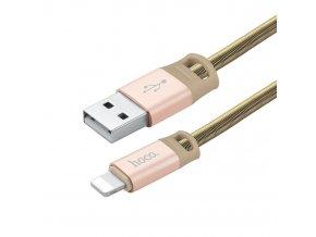 Kabel Lightning pro iPhone a iPad - Hoco, U27 Golden Shield Gold - DÁREK K OBJEDNÁVCE NAD 2500KČ