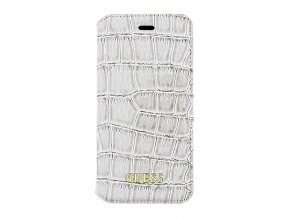 Pouzdro / kryt pro iPhone 5 / 5S / SE - Guess, Croco Book Beige