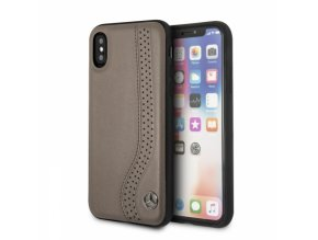 Ochranný kryt pro iPhone X - Mercedes, NewBow Back Brown