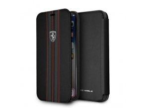Ochranný kryt / pouzdro pro iPhone X - Ferrari, Logo Book Black