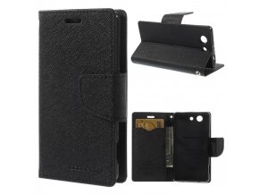 Pouzdro / kryt pro SONY Xperia Z3 Compact D5803 - Mercury, Fancy Diary BLACK/BLACK