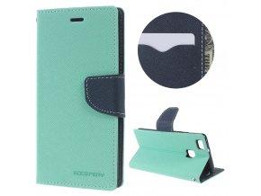 Pouzdro / kryt pro Huawei P9 LITE (2016) - Mercury, Fancy Diary MINT/NAVY