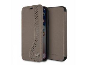 Ochranný kryt / pouzdro pro iPhone X - Mercedes, NewBow Book Brown
