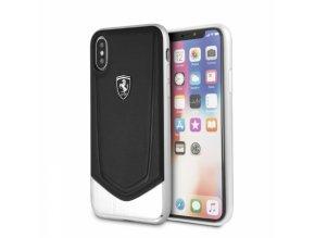 Ochranný kryt pro iPhone X - Ferrari, Aluminium Back Black