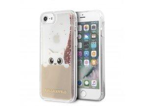 Ochranný kryt pro iPhone 7 / 8 - Karl Lagerfeld, Peek and Boo Gold