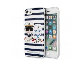 Ochranný kryt pro iPhone 8 / 7 / 6s / 6 - Karl Lagerfeld, Sailors Stripes