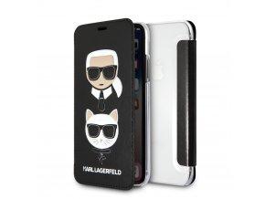 Ochranný kryt pro iPhone X - Karl Lagerfeld, Karl and Choupette Book