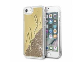 Ochranný kryt pro iPhone 7 / 8 - Karl Lagerfeld, Signature Gold