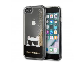 Ochranný kryt pro iPhone 8 / 7 / 6S / 6 - Karl Lagerfeld, Peek and Boo Gold
