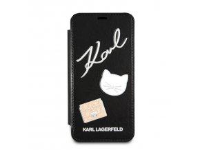 Ochranný kryt pro iPhone 8 / 7 / 6s / 6 - Karl Lagerfeld, Choupette Pins Book