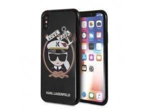 Ochranný kryt pro iPhone X - Karl Lagerfeld, Sailor Black