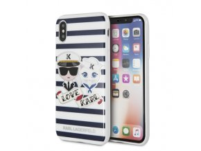 Ochranný kryt pro iPhone X - Karl Lagerfeld, Sailors Stripes