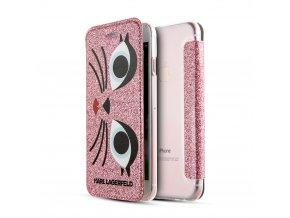 Ochranný kryt pro iPhone 7 / 8 - Karl Lagerfeld, K-Paris Pink Book