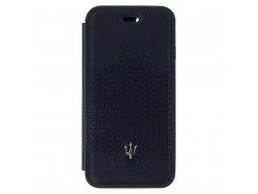 Pouzdro / kryt pro iPhone 7 / 8 - Maserati, Granlusso Book Navy