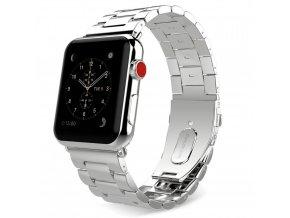 Kovový pásek / řemínek pro Apple Watch 42mm - TECH-PROTECT, STAINLESS SILVER
