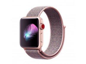 Nylonový pásek / řemínek pro Apple Watch 42mm - TECH-PROTECT, NYLON PINK SAND