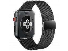 Kovový pásek / řemínek pro Apple Watch 42mm - TECH-PROTECT, MILANESEBAND BLACK