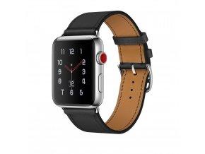 Kožený pásek / řemínek pro Apple Watch 42mm - TECH-PROTECT, HERMS BLACK
