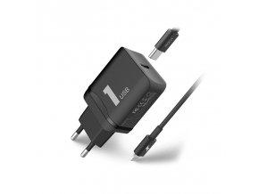 Rychlá nabíječka do sítě pro iPhone X / 8 / 8 PLUS - ROCK, PD Fast Charging Set