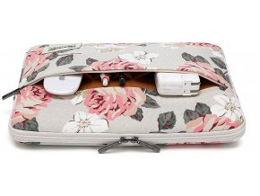 Pouzdro pro MacBook Air / Pro 13 - CANVASLIFE, SLEEVE WHITE ROSE