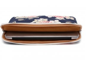 Pouzdro pro MacBook Air / Pro 13 - CANVASLIFE, SLEEVE NAVY ROSE