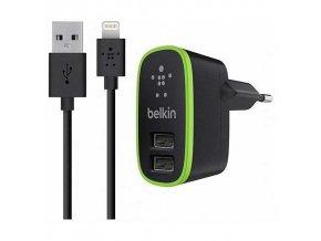Nabíjecí AC adaptér pro iPhone a iPad - BELKIN, HOME CHARGER 2.1A + kabel Lightning