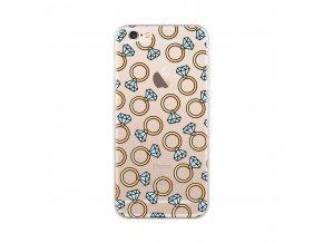 Ochranný kryt pro iPhone 6 / 6S - FLAVR, DIAMOND RINGS