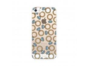 Ochranný kryt pro iPhone 5 / 5S / SE - FLAVR, DIAMOND RINGS