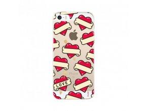 Ochranný kryt pro iPhone 5 / 5S / SE - FLAVR, HEARTS