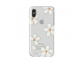 Ochranný kryt pro iPhone X - FLAVR, WHITE PETALS