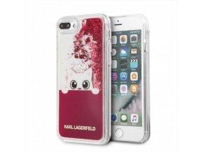 Ochranný kryt pro iPhone 8 PLUS / 7 PLUS / 6S PLUS / 6 PLUS - Karl Lagerfeld, Peek and Boo Glitter Fuchsia