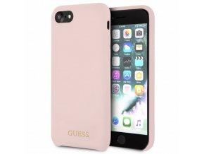 Ochranný kryt pro iPhone 7 / 8 - Guess, Silicone Logo LightPink