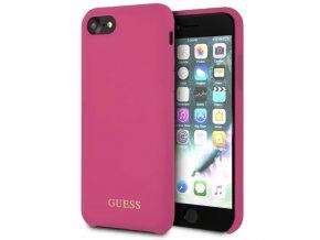 Ochranný kryt pro iPhone 7 / 8 - Guess, Silicone Logo HotPink