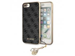Ochranný kryt pro iPhone 8 PLUS / 7 PLUS / 6S PLUS / 6 PLUS - Guess, Charms 4G Back Gray